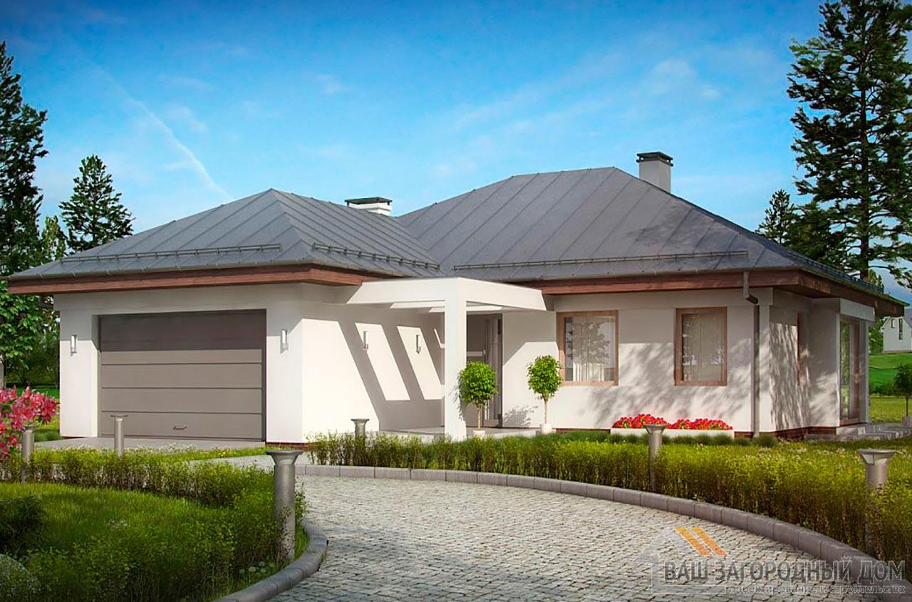 Типовой проект дома в один этаж общей площадью 176 м2, К-117613