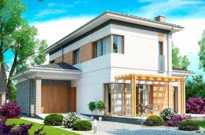Проект двухэтажного дома площадью 158м2, К-215811