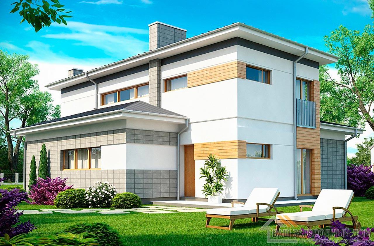 Проект двухэтажного дома площадью 158м2, К-215811 вид 2