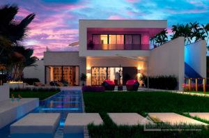Современный проект дома в два этажа, общей площадью 225 м2, К-222516