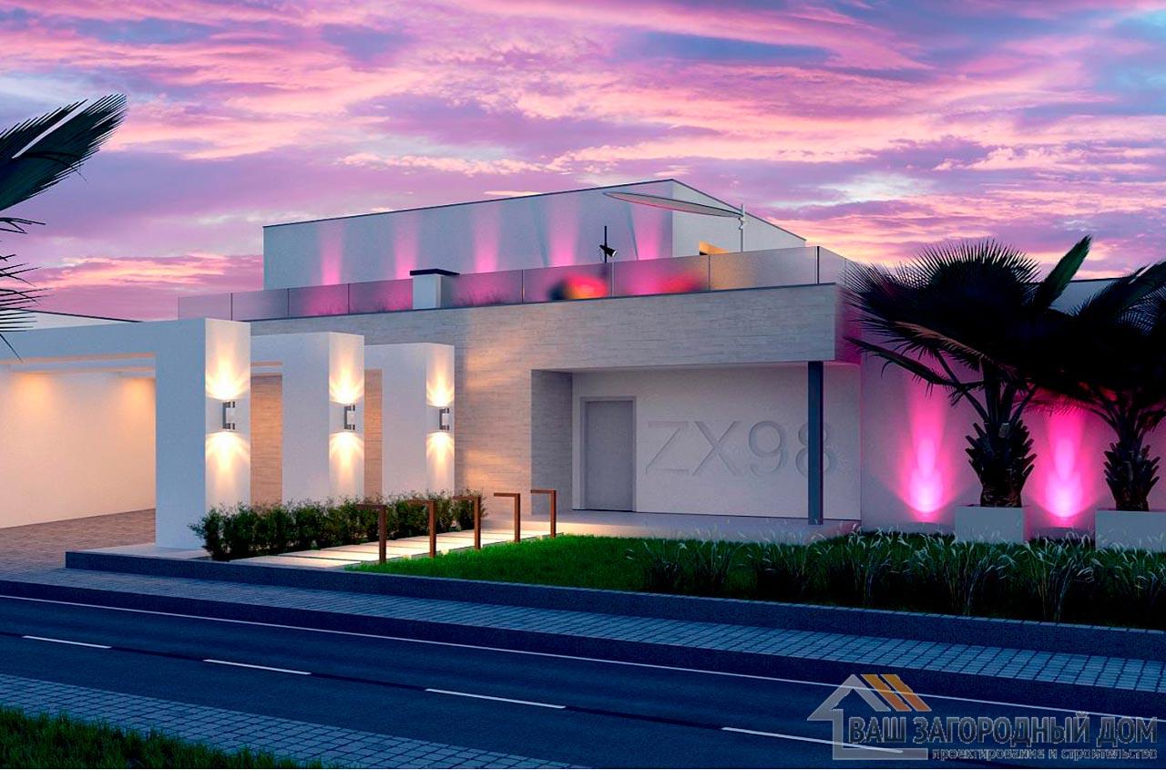 Современный проект дома в два этажа, общей площадью 225 м2, К-222516 вид 2