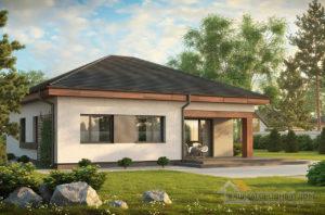 Проект одноэтажного дома общей площадью 94 м2, К-194725