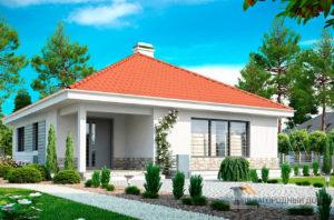 Проект 1 этажного дома для одной семьи площадью 90 м2, К-190675