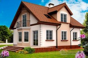 Типовой проект 1 этажного дома с мансардой площадью 168 м2, К-116812