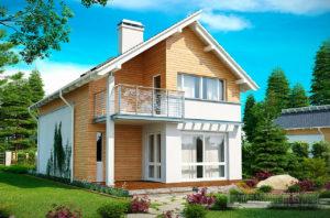 Типовой проект дома площадью 126 м2 , К-112694