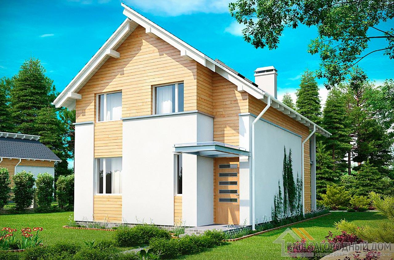 Типовой проект дома площадью 126 м2 , К-112694 вид 2