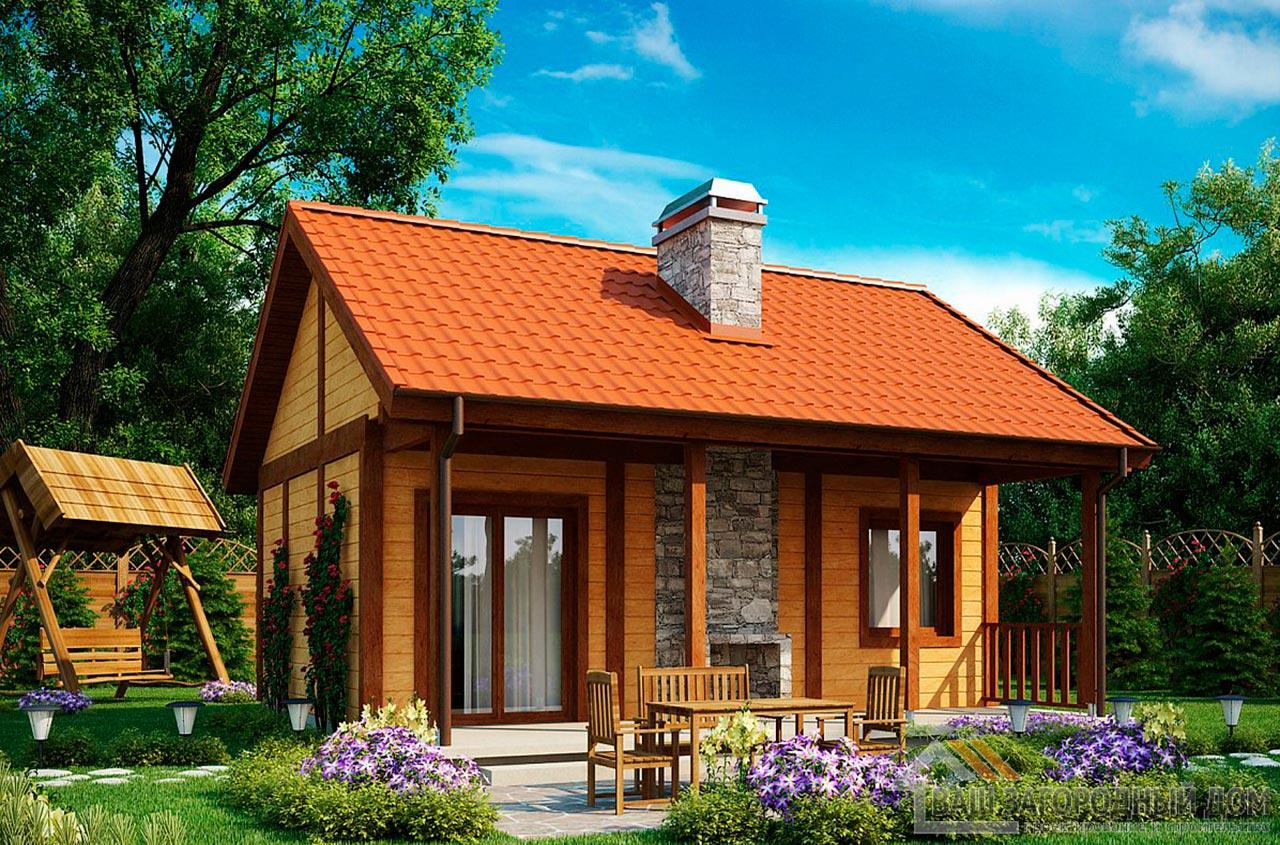 Проект маленького дома площадью 38м2, К-138285