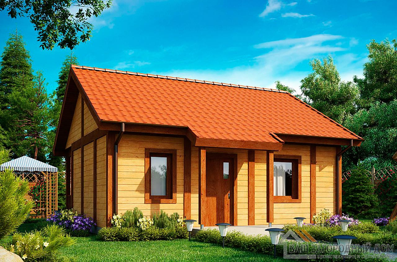 Проект маленького дома площадью 38м2, К-138285 вид 2