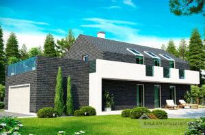 Проект стильного двухэтажного дома площадью 198 м2, К-219814