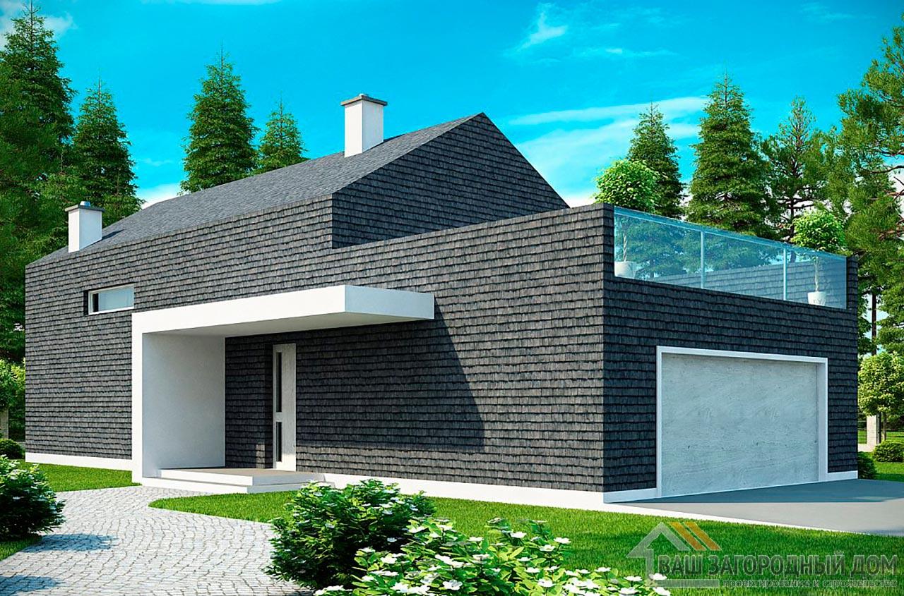 Проект стильного двухэтажного дома площадью 198 м2, К-219814 вид 2