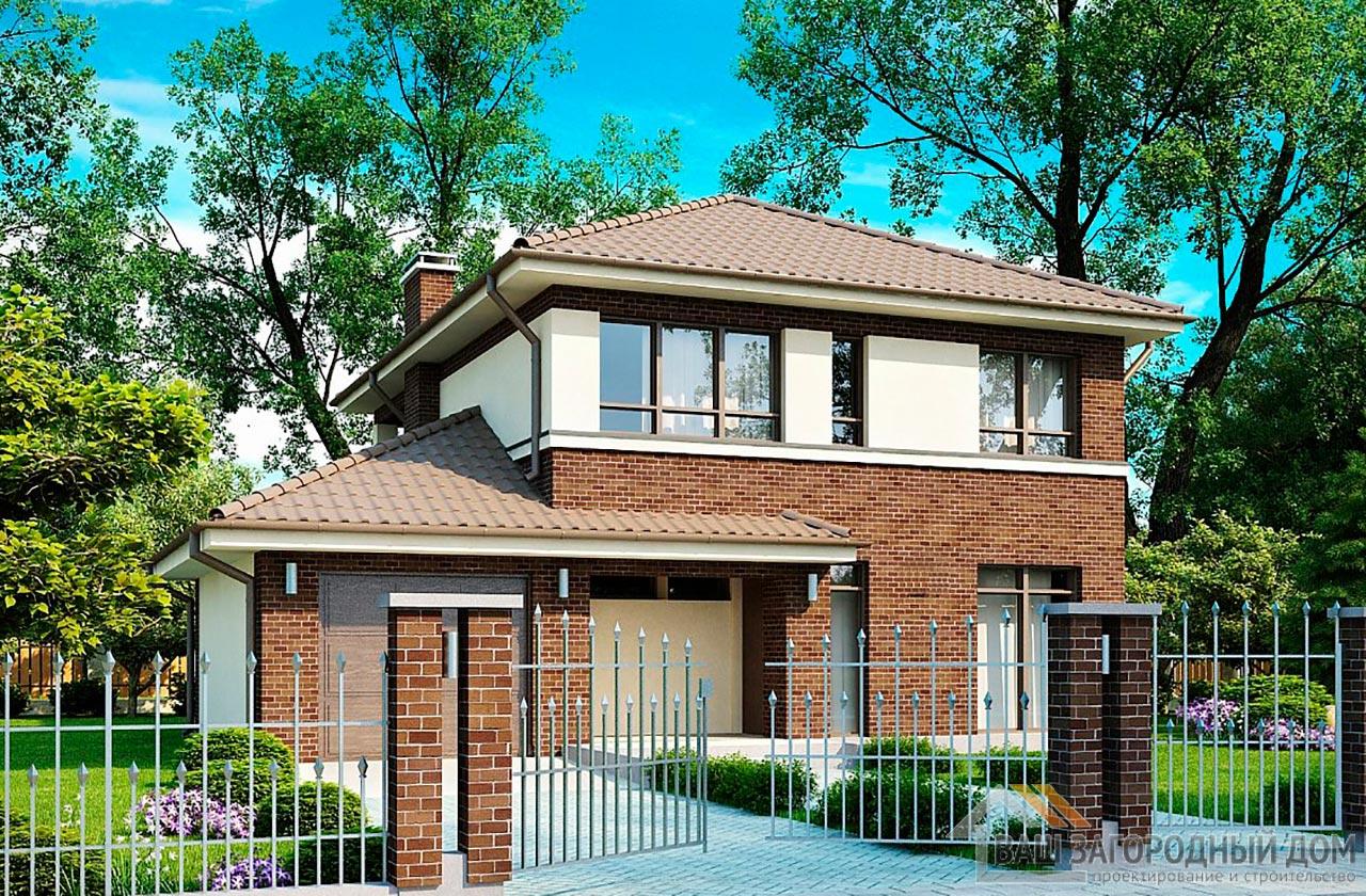 Проект двухэтажного дома площадью 163 м2 , К-216312