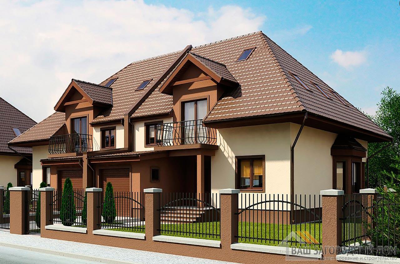 Проект двухквартирного дома площадью 364 м2, К- 217727