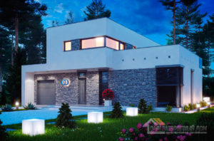 Проект дома кубической формы площадью 209 м2, К- 220915