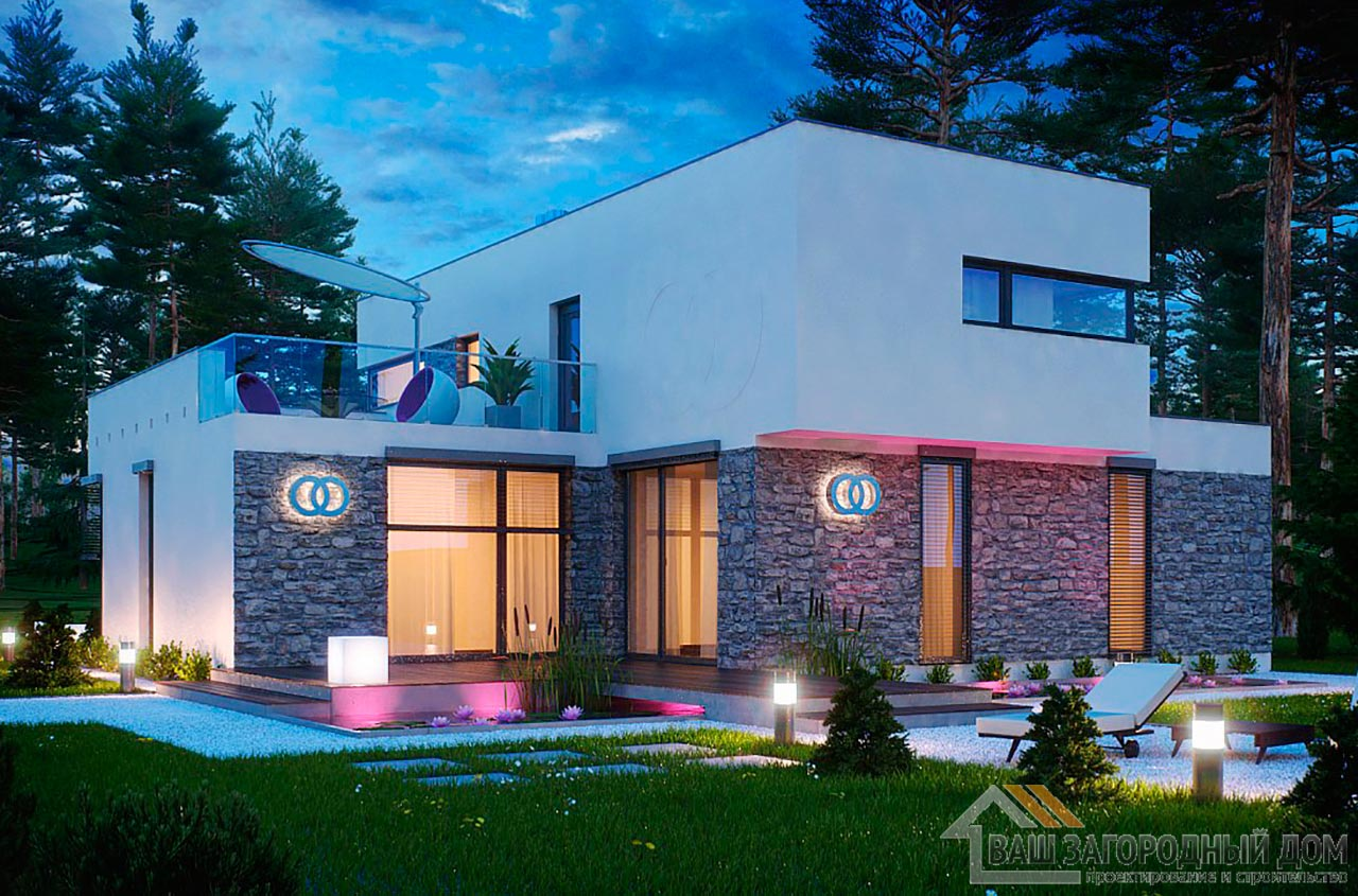 Проект дома кубической формы площадью 209 м2, К- 220915 вид 2