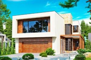 Готовый проект дома в два этажа площадью 238м2, К-223817