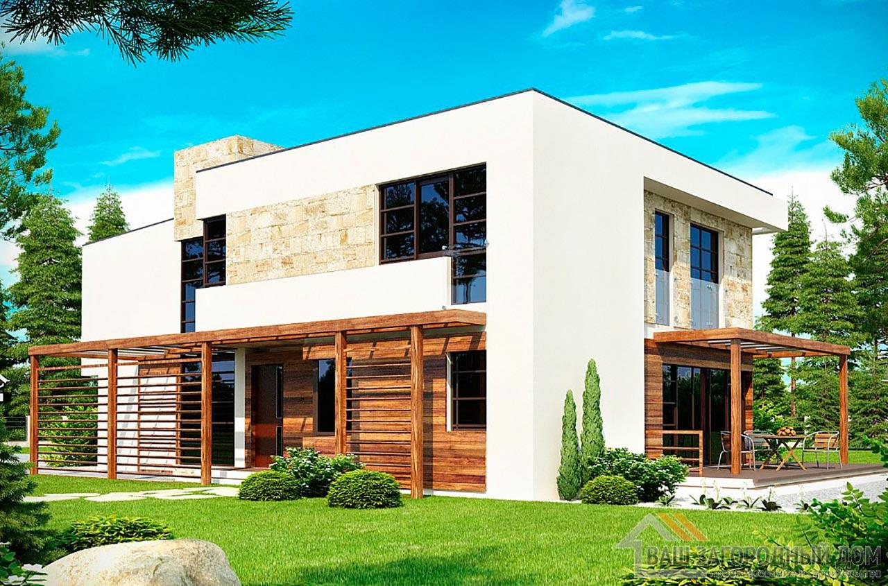 Готовый проект дома в два этажа площадью 238м2, К-223817 вид 2