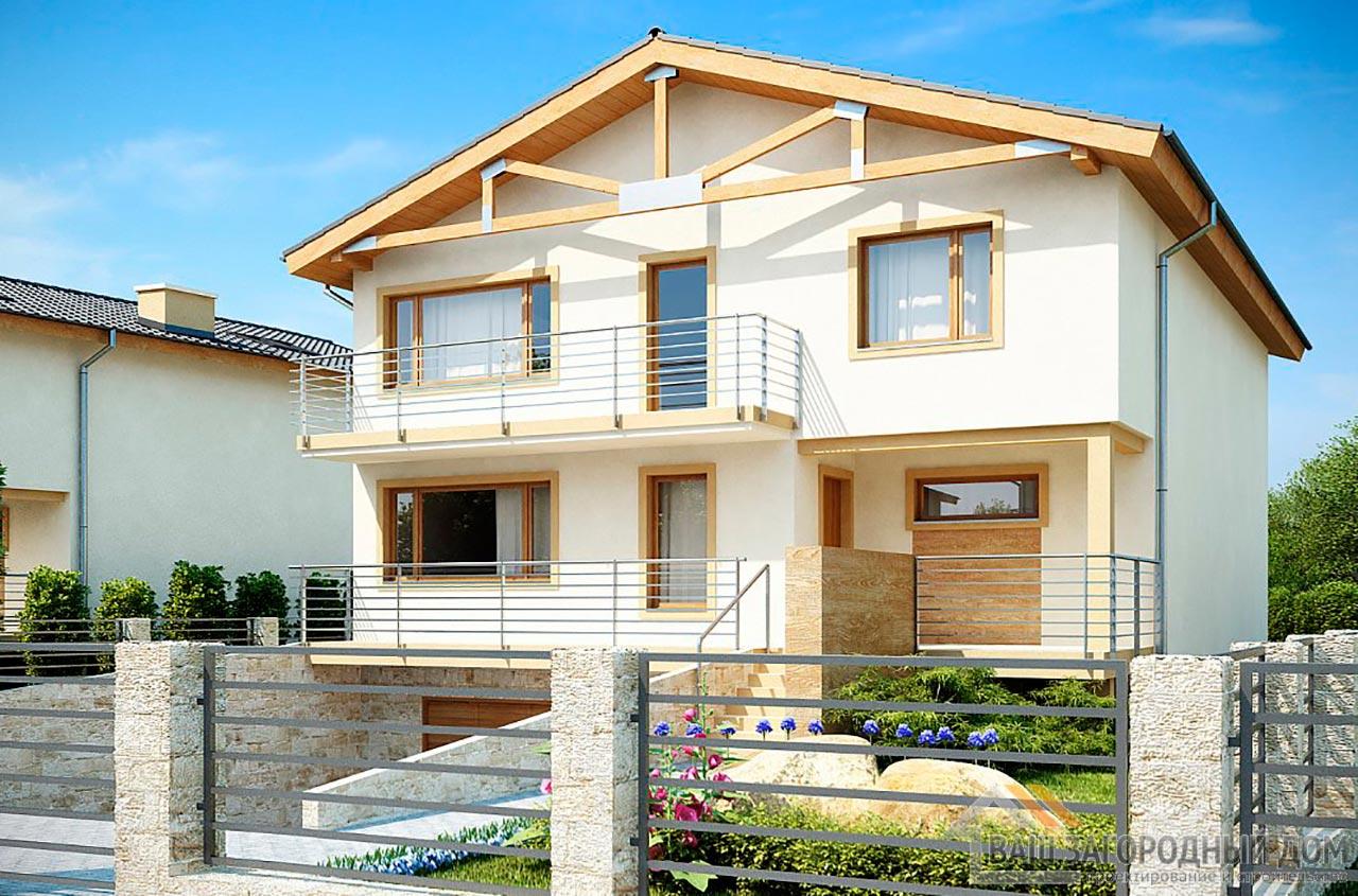 Готовый проект дома в 2 этажа общей площадью 346 м2, К-234626