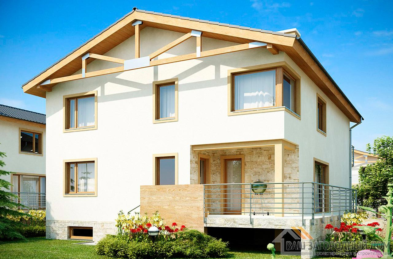 Готовый проект дома в 2 этажа общей площадью 346 м2, К-234626 вид 2