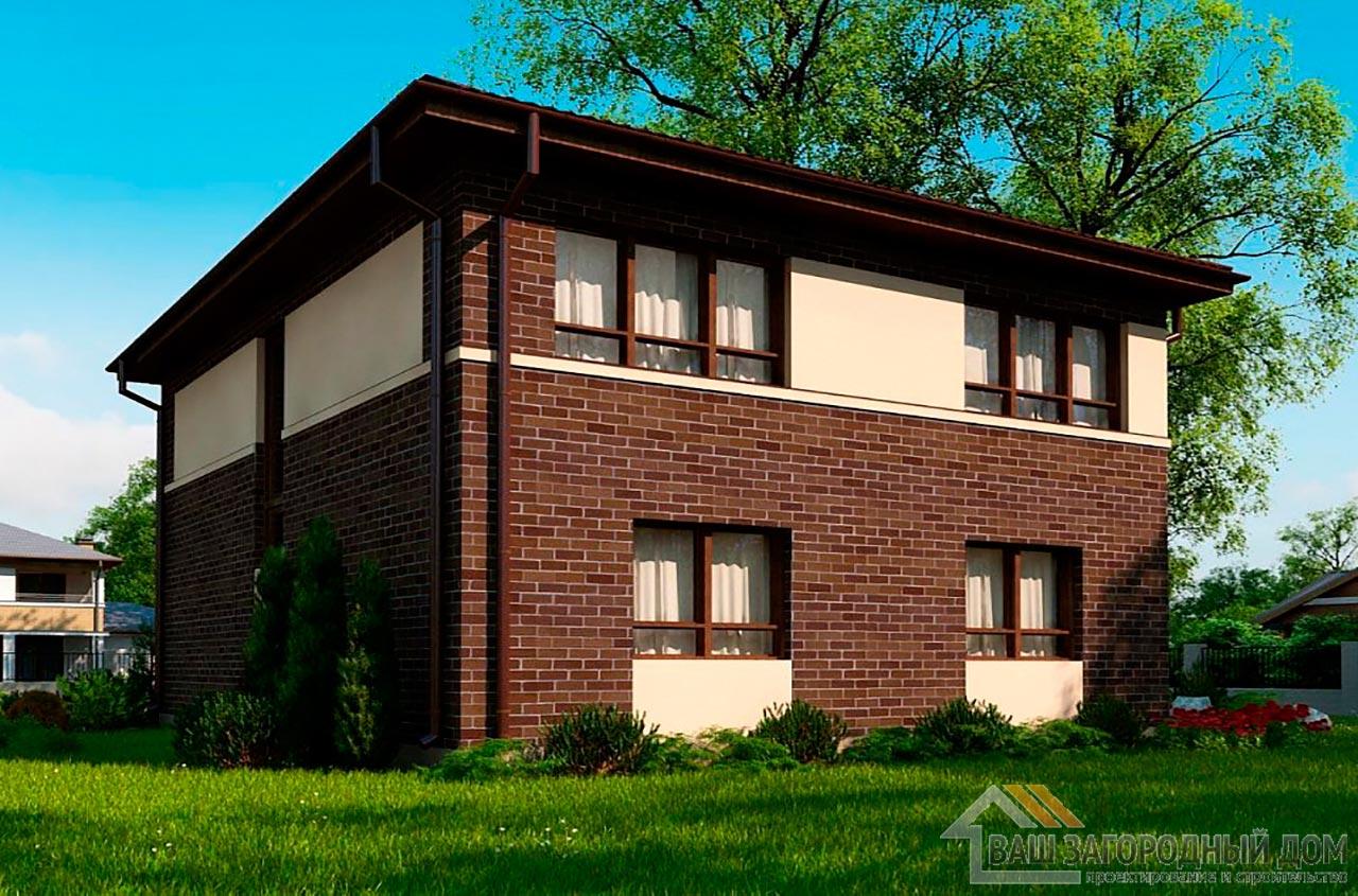 Типовой проект 2-х этажного дома площадью 157 м2, К-215711 вид 2