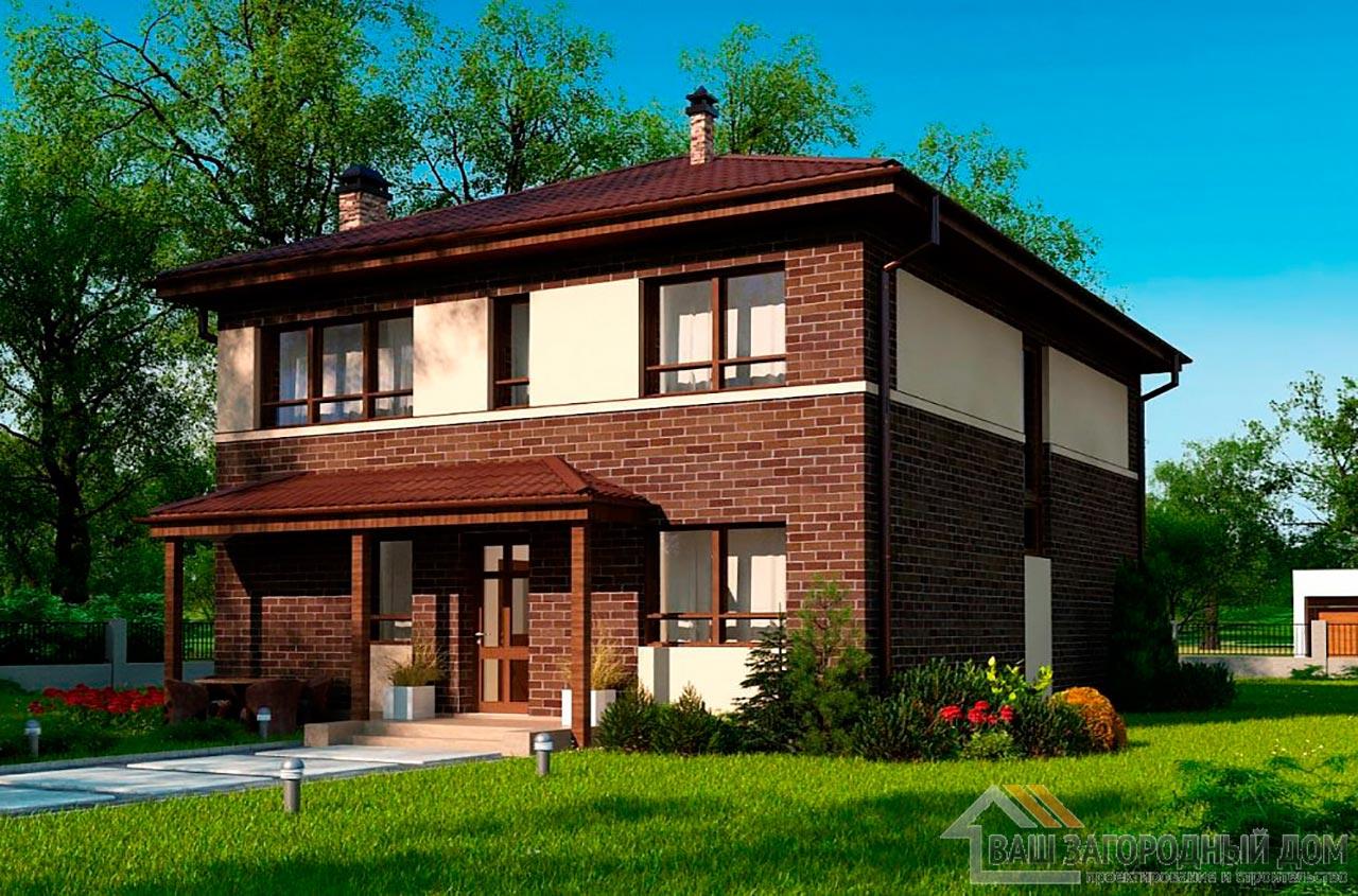 Типовой проект 2-х этажного дома площадью 157 м2, К-215711
