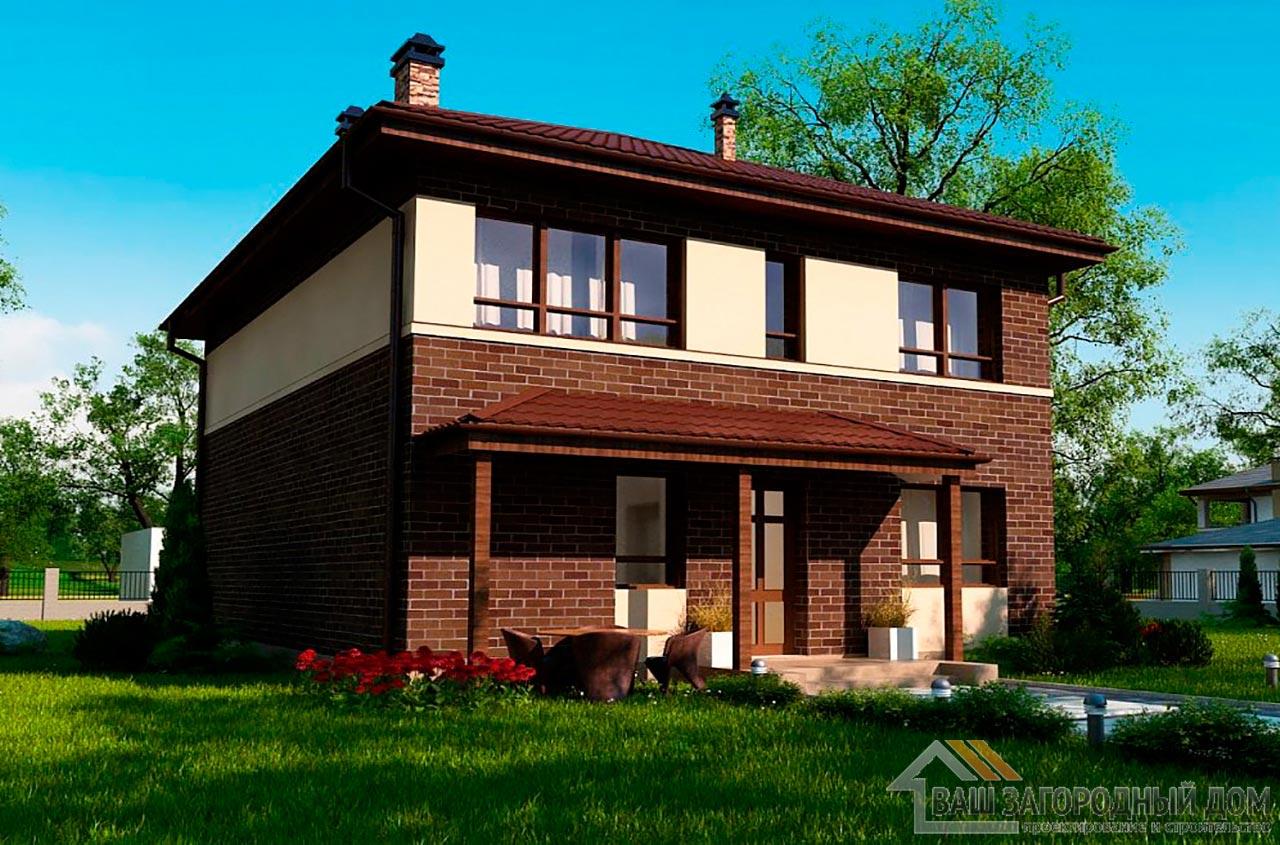 Типовой проект 2-х этажного дома площадью 157 м2, К-215711 вид 3