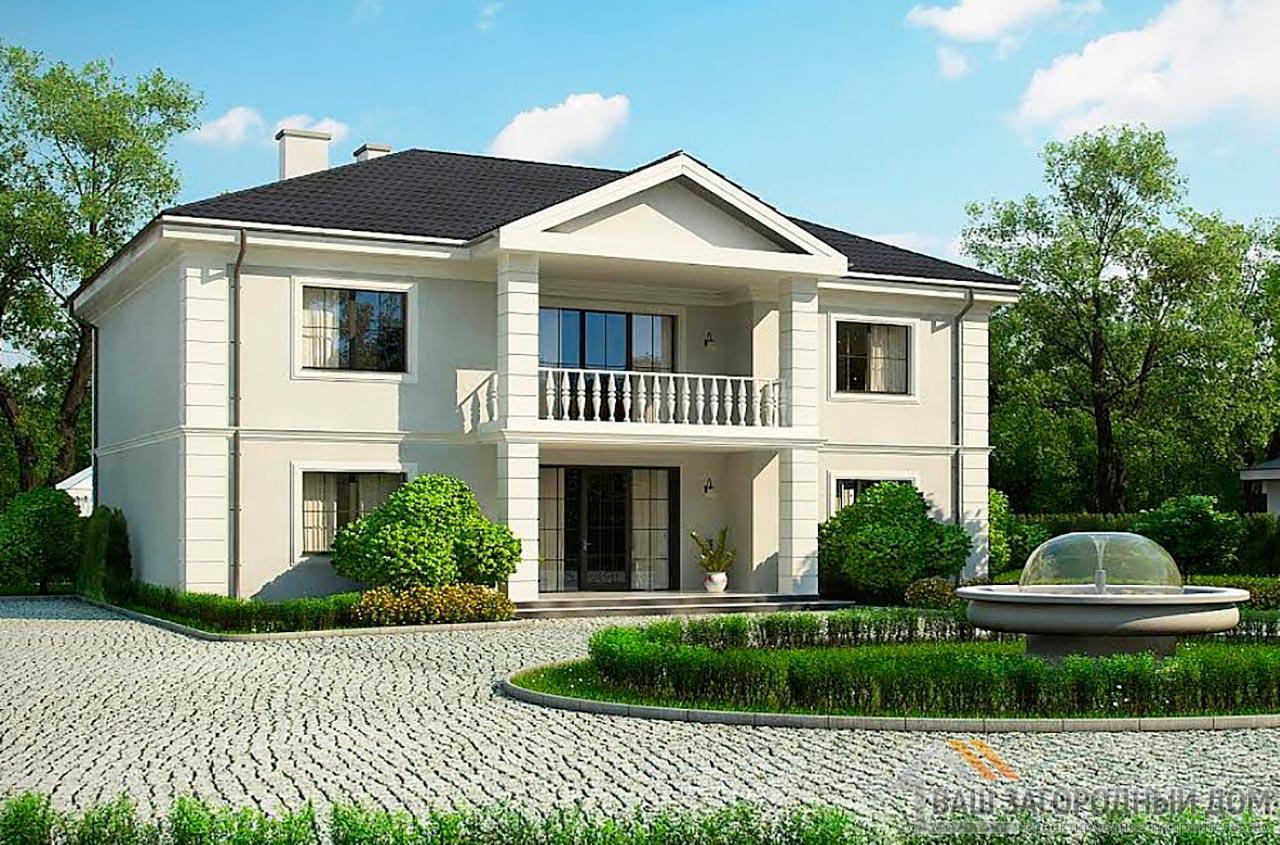 Типовой проект 2-х этажного дома площадью 311 м2, К-231123
