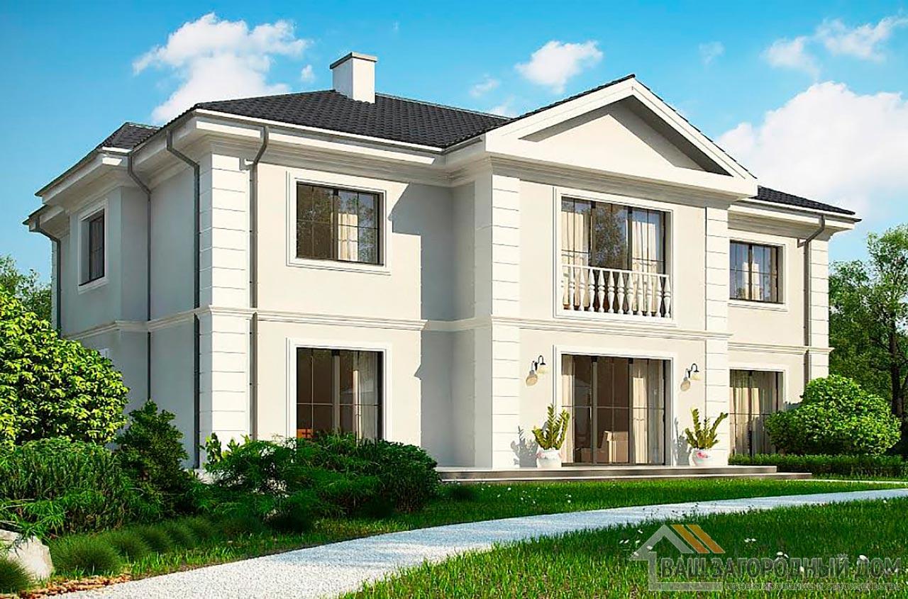Типовой проект 2-х этажного дома площадью 311 м2, К-231123 вид 2