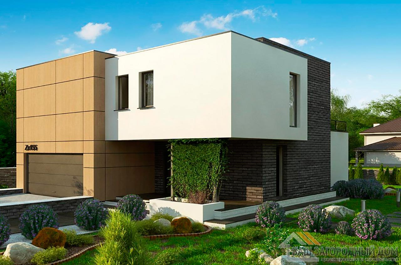 Современный двухэтажный проект площадью 200м2, К-220015 вид 3