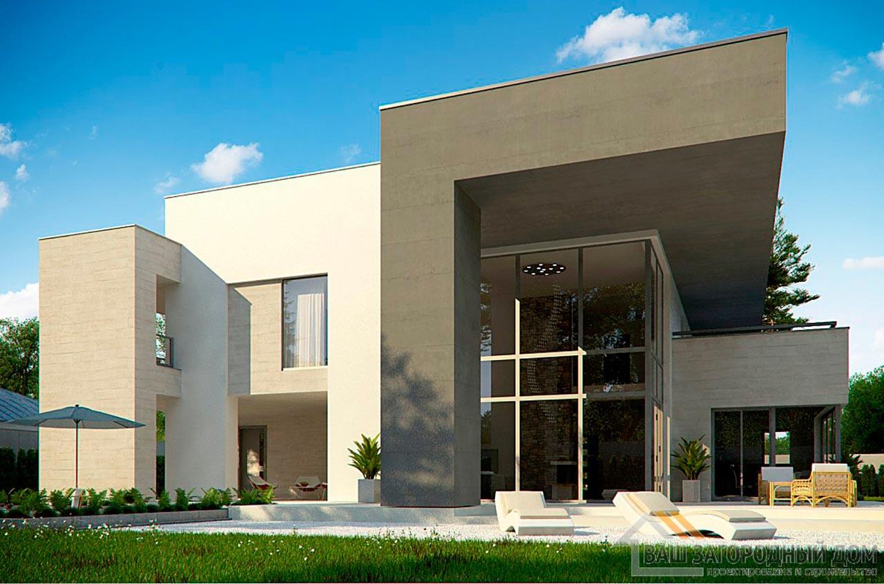 Эксклюзивный проект двухэтажного дома площадью 312м2, К-231223 вид 3