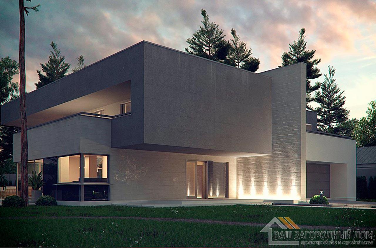 Эксклюзивный проект двухэтажного дома площадью 312м2, К-231223 вид 2