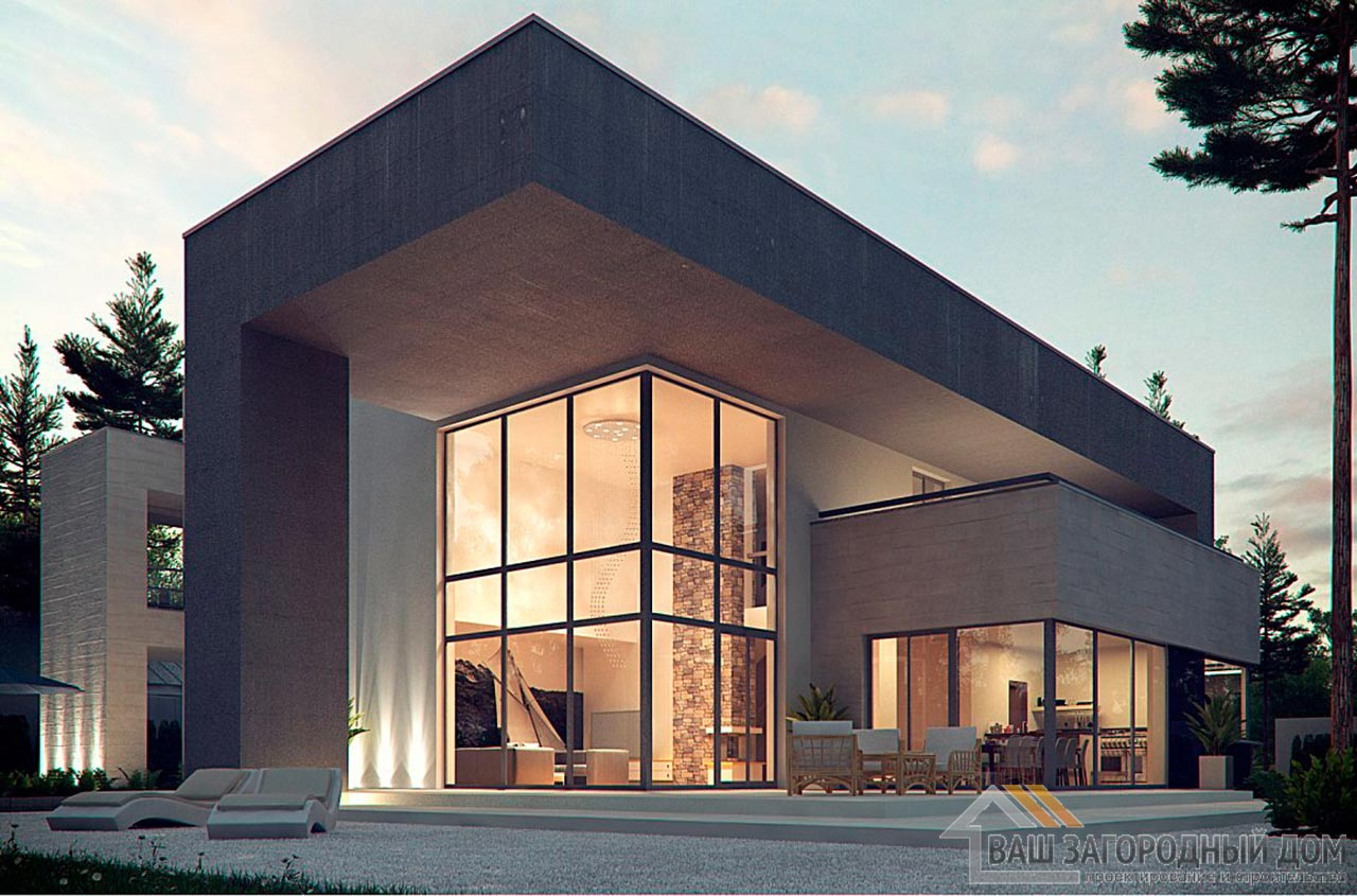 Эксклюзивный проект двухэтажного дома площадью 312м2, К-231223