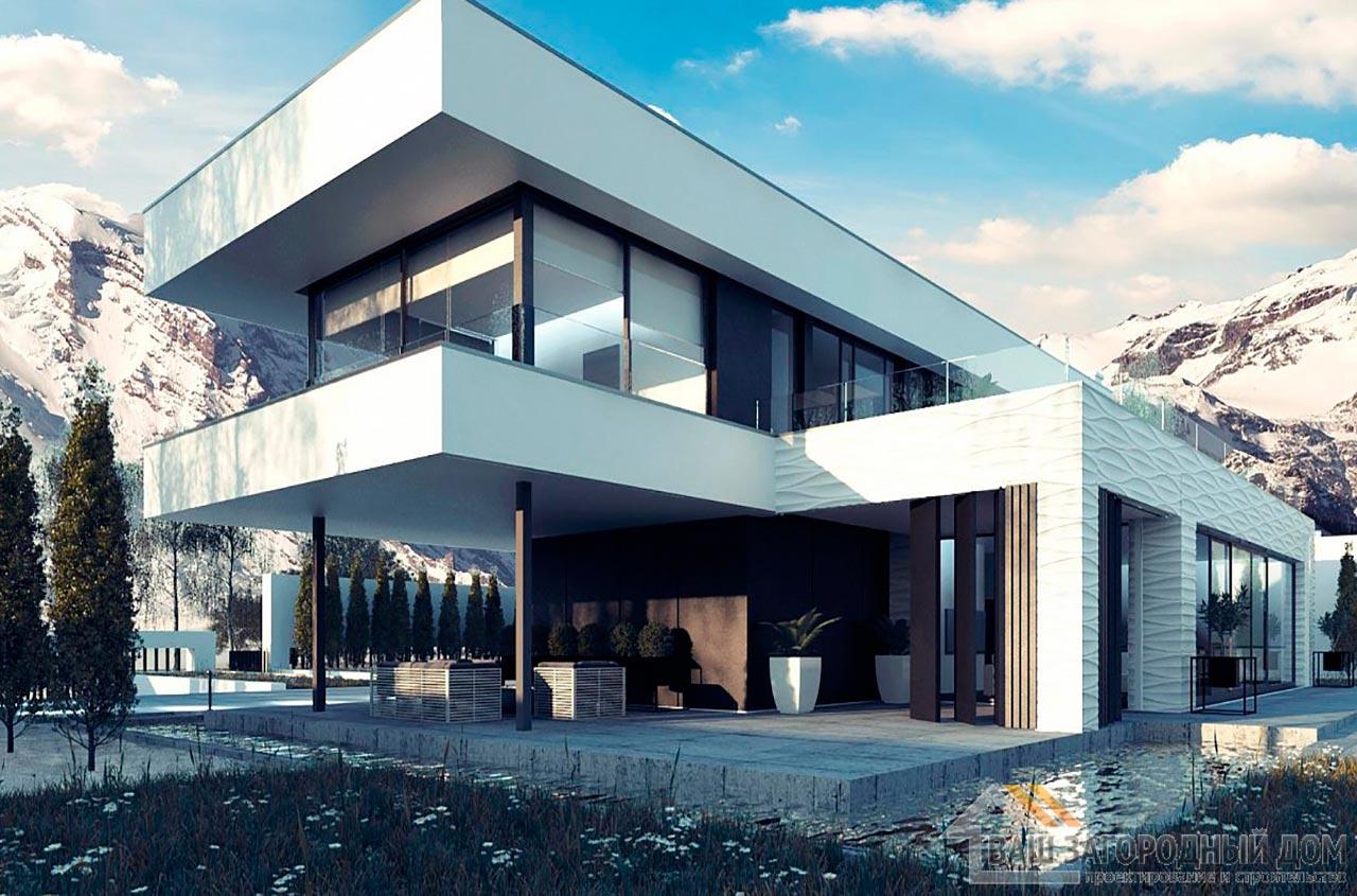 Проект просторного двухэтажного дома площадью 320м2, К-232024 вид 4