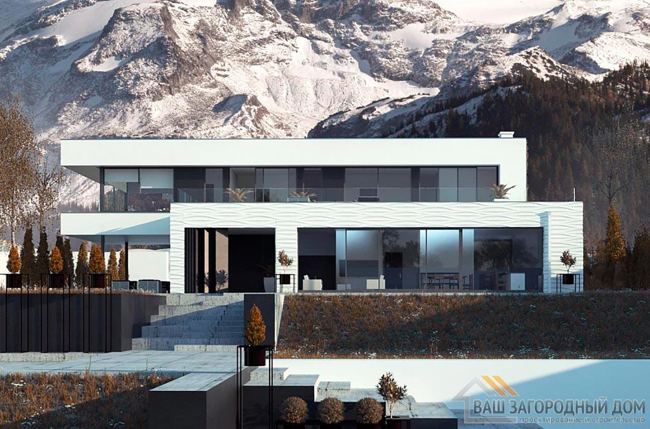 Проект просторного двухэтажного дома площадью 320м2, К-232024 вид 3