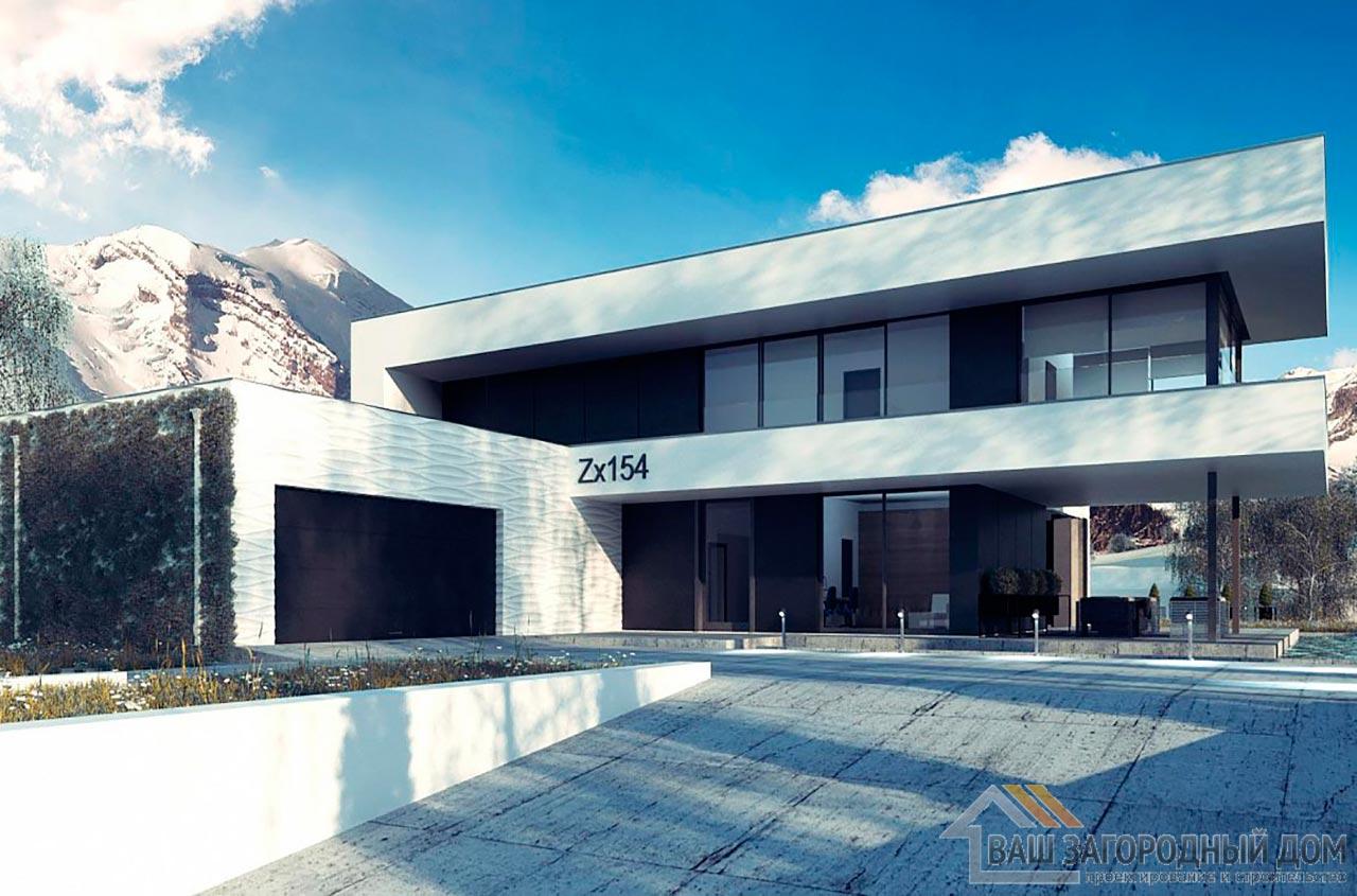 Проект просторного двухэтажного дома площадью 320м2, К-232024 вид 2
