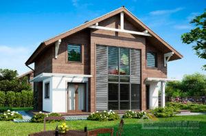 Готовый проект дома в два этажа площадью 122 м2, К212291