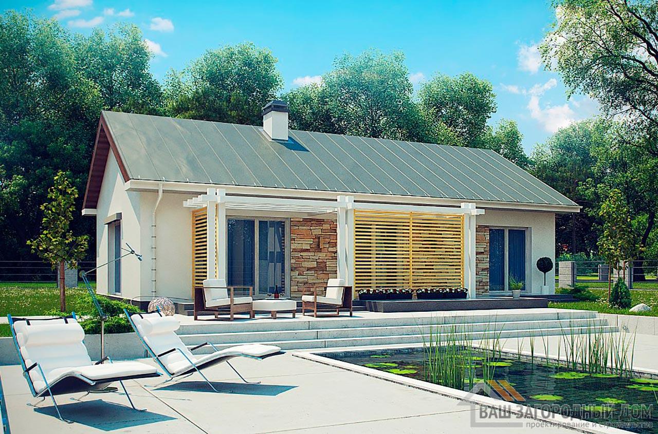 Проект элегантного одноэтажного дома площадью 95 м2, К-195719 вид 3