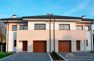 Строительство двухэтажного дома, площадью 250 м2 одного блока за 6 месяцев