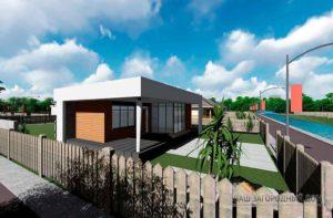 Строительство одноэтажного дома, площадью 94 м2 в стиле хай-тек за 3 месяца