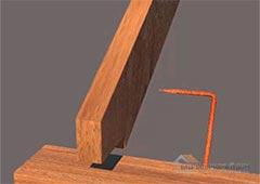 Урок №83: Соединение узла стропил к мауэрлату с 1й степенью свободы, 4й способ