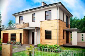 Современный проект дома в 2 этажа общей площадью 174 м2, К-217413