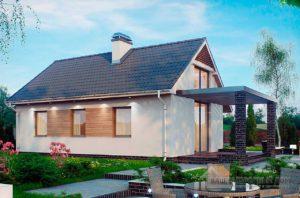 Готовый проект дома общей площадью 61м2, К-161460
