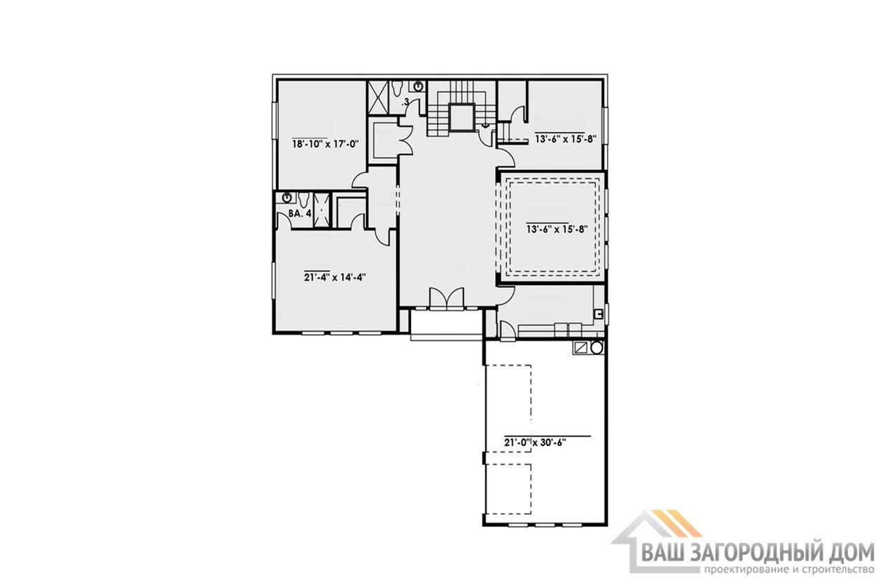 Современный проект двухэтажной виллы общей площадью 1441 м2, К-2144110 вид 4