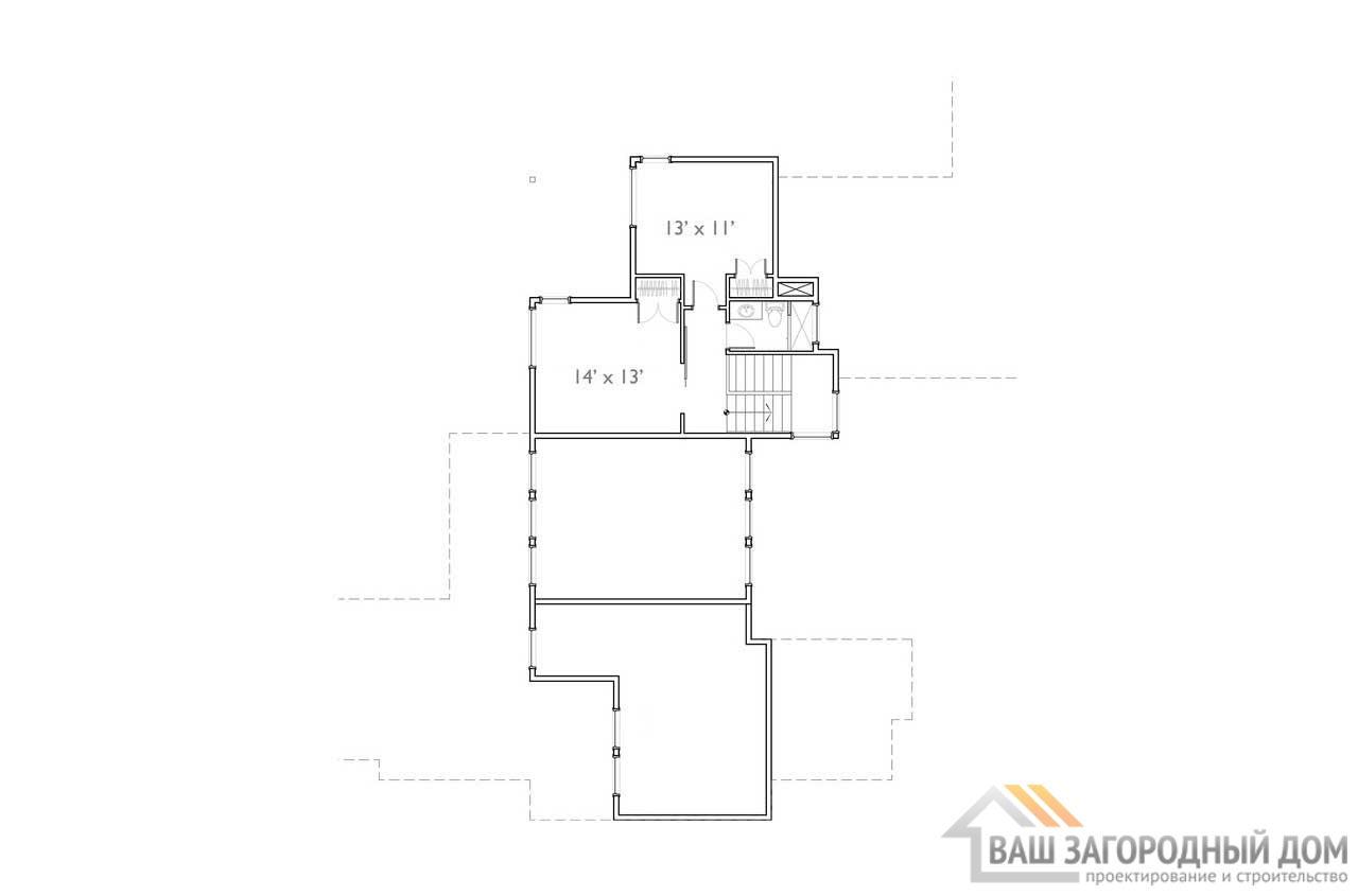 Готовый проект просторного дома в 2 этажа  площадью 980 м2, К-298073 вид 5