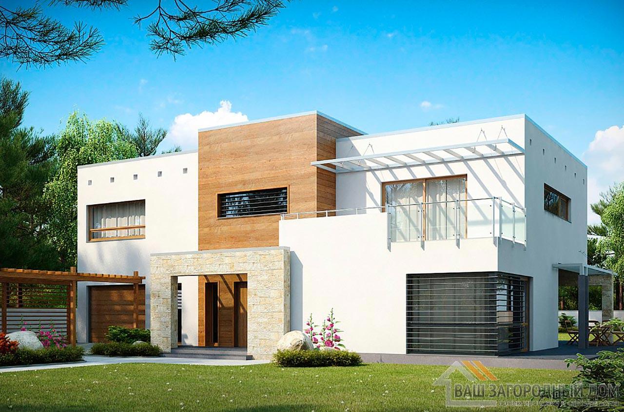 Проект современного дома в 2 этажа общей площадью 295м2, К-229522 вид 2