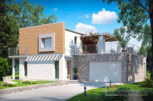 Готовый проект двухэтажного дома общей площадью 226 м2, К-222617