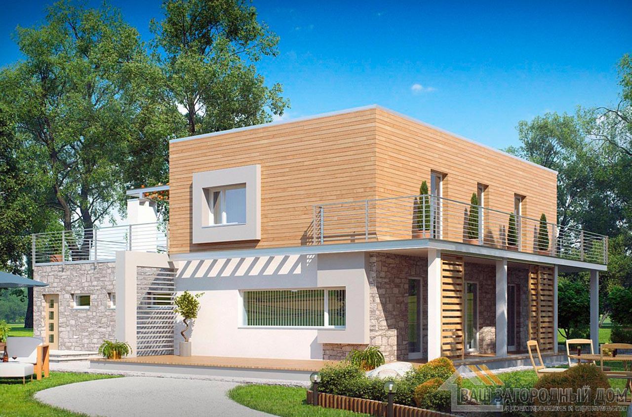 Готовый проект двухэтажного дома общей площадью 226 м2, К-222617 вид 2