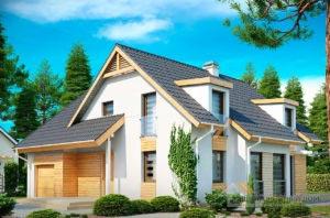 Проект привлекательного дома с мансардой общей площадью 198 м2, К-119814