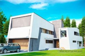 Готовый проект двухэтажного дома площадью 345м2, К-234525