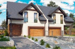 Проект двухквартирного дома общей площадью 326 м2, К-132624
