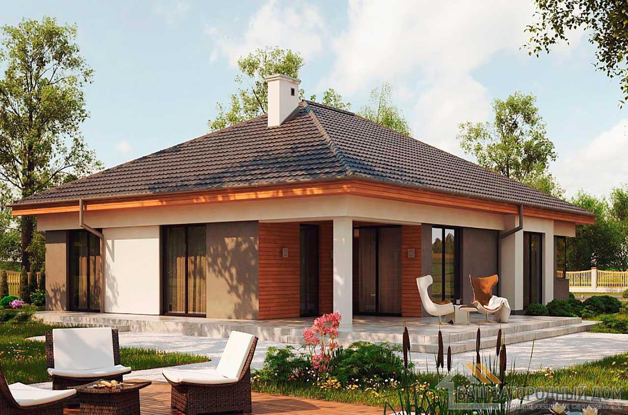 Проект просторного одноэтажного дома площадью189 м2, К-118914 вид 2